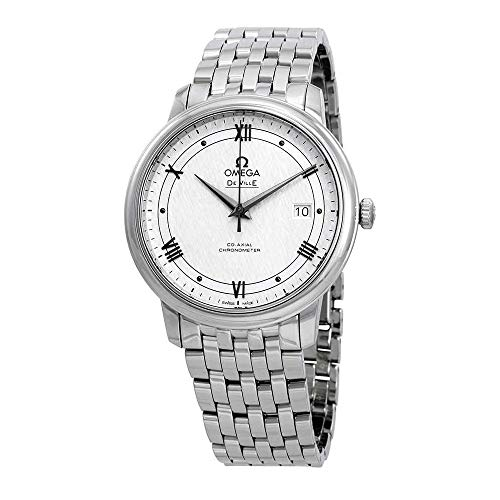 Omega De Ville 424.10.40.20.02.005 - Orologio automatico da uomo, colore: Bianco/Argento