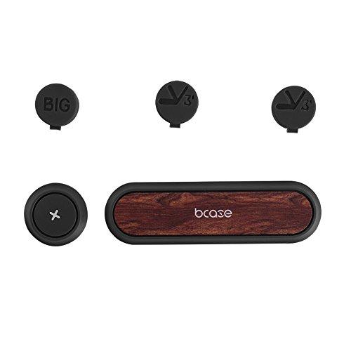 BCASE selbstklebende Datenkabel Organizer Kabel Organizer Kabelbefestigungen Mehrzweck,im Auto oder Wohnbereich Desktop Kabel Clip Halter Stand,3 Magnetknopf(Schwarznuss)