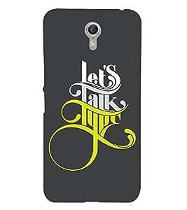 Fabcase Lets Talk Type Designer Designer Back Case Cover for Lenovo ZUK Z1