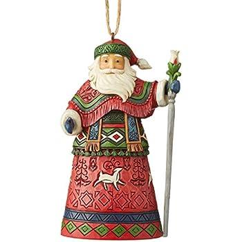 Jim Shore Heartwood Creek Sospensione Babbo Natale in Paesaggio Incantato Invernale 13 cm