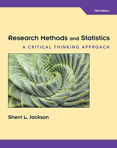 Research Methods And Statistics A Critical Thinking Approach Pdf
