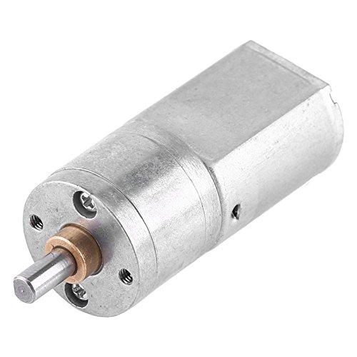 DC 12 V Elektromotor Getriebemotor mit hoher Drehzahlreduzierung 15/30/100/200 U/min, mit Zentralausgangswelle, Durchmesser 4 mm, für das Modell von Auto-Roboter, RC Spielzeug, Heimwerker (200 U/min) -