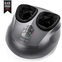 MARNUR Appareil Massage Pied Masseur Shiatsu Chauffant Massage Electrique avec Roulant et Pression d'Air n à la Maison et au Bureau(Chaleur / Compression de l'air / Shiatsu Utilisé Séparément)