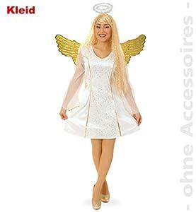 Party-Chic-Disfraz de ángel para Mujer, Talla 38, Color Blanco, (Fritz Fries & Söhne GmbH 13452)
