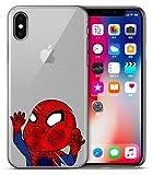 Art-design Coque iPhone X et XS Spiderman Marvel Super Hero Mignon Silicone Souple