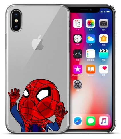Art Design Hülle für iPhone XR Spiderman Marvel Super Hero Niedlich Superheld Soft Silikon