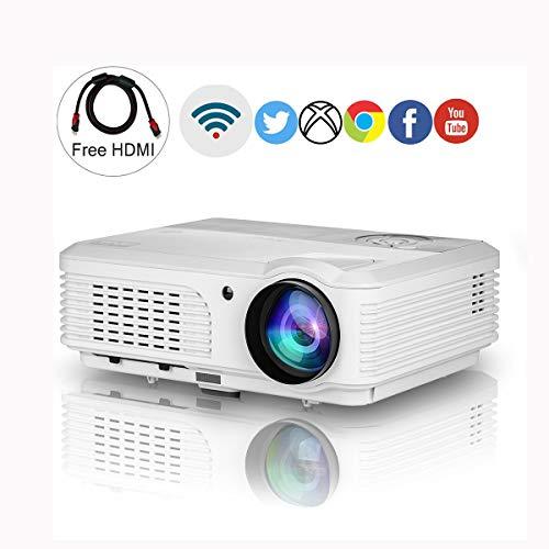 Ai LIFE WLAN-Projektor HD 1080p-Unterstützung 8200 Lumen LCD LED Digitaler Heimvideoprojektor HDMI USB VGA Audio für im Freienparty-Film-Grafik-Projektions-Smartphone PC Laptop