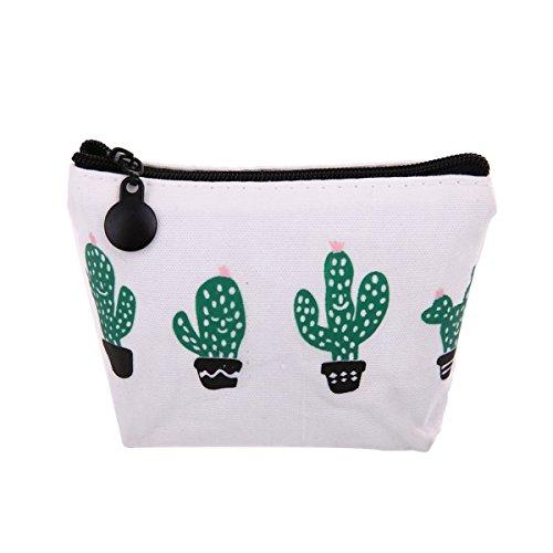 TININNA 1 pz Modello fresco di cactus Tela Moneta Portafoglio Cassa Piccolo Portafoglio con cerniera#3 #2