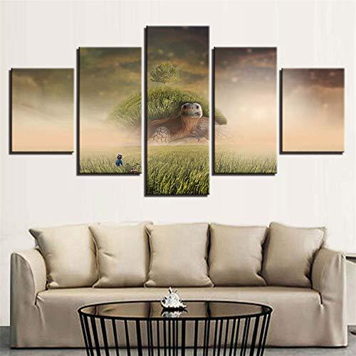 Comecong Dekorative Malerei,Moderne minimalistische Home Art malerei fünf Druckfarbe Baum Landschaft leinwand malerei wandmalerei 15 malerei Kern 30x40cmx2 30x60cmx2 30x80cmx1