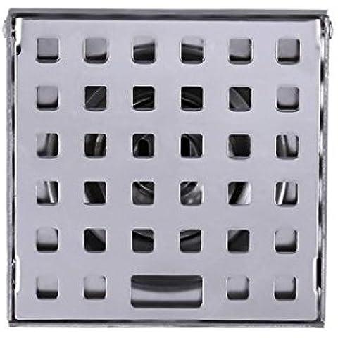 CAC Alta qualità 100mmx100mm acciaio inossidabile Bagno doccia quadrato di