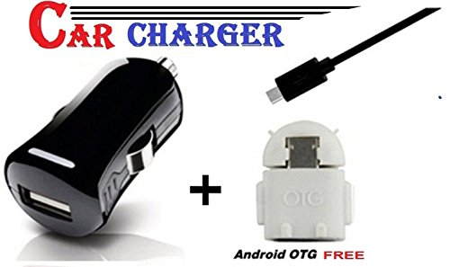 GKP Products High Speed USB Port Car Charger Compatible for All Smartphones with Free OTG Model 439243