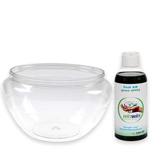 winwin clean Systemische Reinigung - Wasserbehälter geeignet für AIR Blow und proWIN AIR Bowl 2 I inklusive Wunsch - Luftreinigungs-Konzentrat Fresh AIR 500ml (Wasserbehälter)