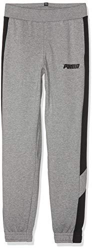 Puma Jungen Rebel Pants TR B Jogginghose, Medium Gray Heather, 104 - Medium Gray Heather
