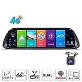 SZKJ D30 - Specchietto retrovisore universale per auto con GPS, Navi Bluetooth, WiFi, Android 8.1, Dual Lens FHD 1080p