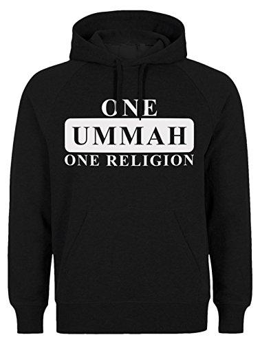 One Ummah One Religion - ISLAM HOODIE SLAMISCHE STREETWEAR KAPUZENPULLI KAPUZENPULLOVER KLEIDUNG FÜR MUSLIME BEDRUCK OUTDOOR ISLAM FASHION (L, Schwarz)