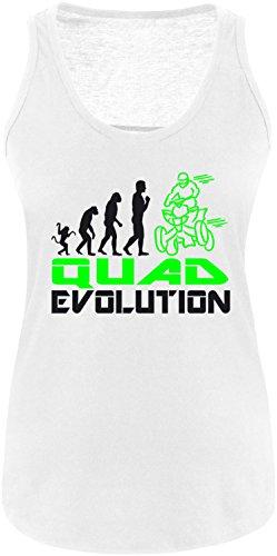 EZYshirt® Quad Evolution Damen Tanktop Weiss/Schwarz/Neongr