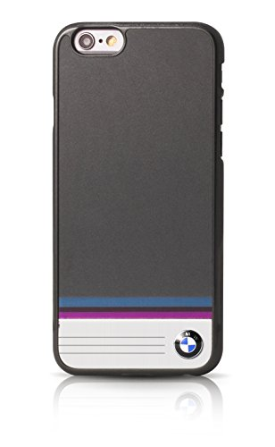 BMW BMHCP6TSDG Multi-Streifen Aluminium-Platte Harte Schutzhülle für Apple iPhone 6/6S 11,9 cm (4,7 Zoll) grau Faceplate Hard Phone Cover