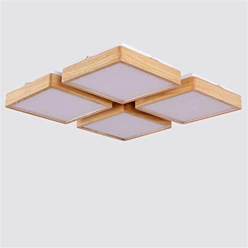 Nordic modernen minimalistischen japanischen Stil koreanische Holz Deckenleuchte Wohnzimmer Schlafzimmer den Restaurant Balkon Decke Decke Beleuchtung Lampen Laternen (Größe: 75 cm) (Decke-laterne Japanische)