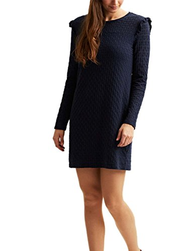 Vila Viwisty L / S abito Short Blu Navy Donna Blue