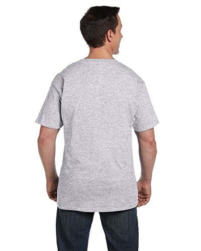 Hanes Men's Beefy-T T-Shirt With Pocket Grau - Ash ...