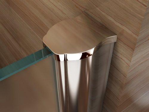 Satinierte Walk In Dusche, 10mm STARK, Duschabtrennung aus ESG Sicherheitsglas mit NANObeschichtung #840 (110cm x 200cm) - 4