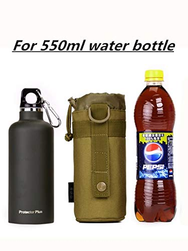 Yakmoo Bolsa de Botella de Agua Impermeable Estilo Militar T/áctico 900D Nylon Soporte//Portador de Botella Molle Sistema Titular de Botella de Agua al Aire Libre