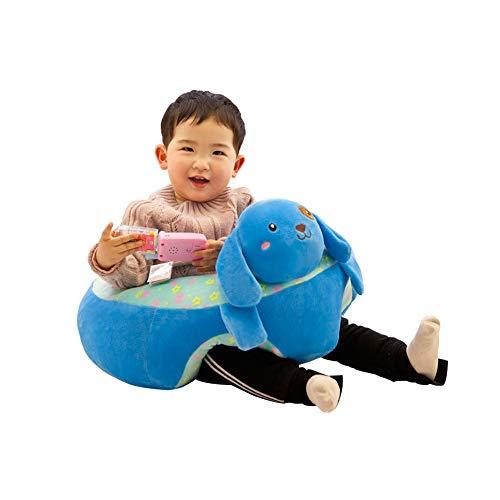 XIAMUSUMMER Sitzsack Baby Kindersitzsack, Sofa Plüsch Tier, Weichen Stuhl Kissen Baby Stützsitz Lernen 50cmx50cmx29cm - Hund