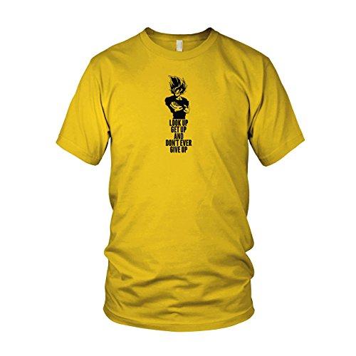 DBZ: Look up Get up - Herren T-Shirt, Größe: XXL, Farbe: gelb