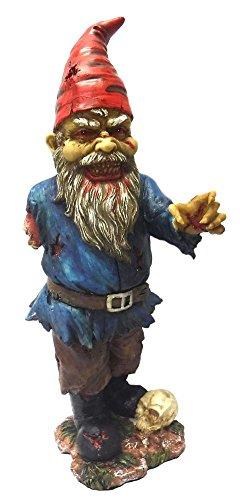 Gartenzwerg - Einarmiger Zombie Zwerg - Figur Garten Statue Horror Fantasy Deko Vater