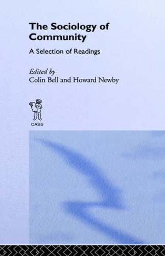 Sociology of Community: A Collection of Readings (New Sociology Library) by Colin Bell (1974-09-26)