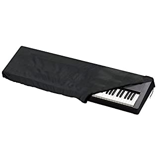 JTDEAL Piano Dust Cover 88 Keyboard Piano Keyboard Cover Black Electronic Piano Protective Cover with Cord for Digital Piano, Casio, Yamaha, Kawai, Roland Consoles (52.75 Inch Length )