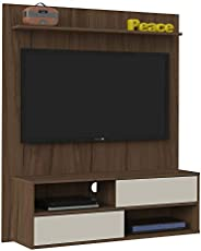 Artely Dallas Wall Panel for 50 inch TV, Walnut Brown with Off White, W 120 x D 33 x H 136 cm