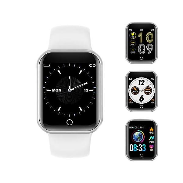 Reloj Inteligente, 1.4 Inch Smartwatch with Monitoreo de presión Arterial, Pulsómetro Impermeable IP68 Pulsera Actividad con Inteligente de Podómetro y Monitoreo del Sueño para Android y iOS 1
