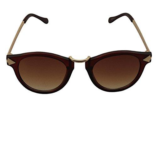 Freak Scene® Retro Sonnenbrille ° 50er, 60er Jahre ° Klassiker Brille ° Farbe: braun/Gold