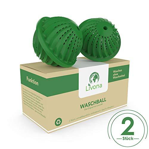 2 x Original Livona® Waschball [TÜV-GEPRÜFT] - Öko Waschkugel - Waschen ohne Waschmittel nachhaltig & umweltfreundlich Vorteilspack - Qualität für Allergiker, Kinder und Umweltbewusste
