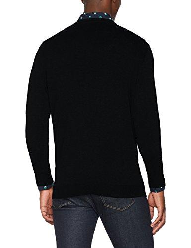 SELECTED HOMME Herren Pullover Shdtower Cot/Silk V-Neck Noos Schwarz (Black)