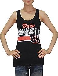 Nascar Mujer Dale Earnhardt Jr. # 88–Camiseta de cuello redondo (Vintage), NASCAR, mujer, color Negro - negro, tamaño S