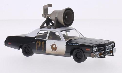 Dodge Monaco, noire/blanche, Blues Brothers, 1974, voiture miniature, Miniature déjà montée, Greenlight 1:43