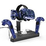 AFAITH VR Stand Ladestation Ladegeräte Dock Station Ständer und Doppelspiel-Controller Storage VR Headset Ladestation für HTC Vive/Vive Pro