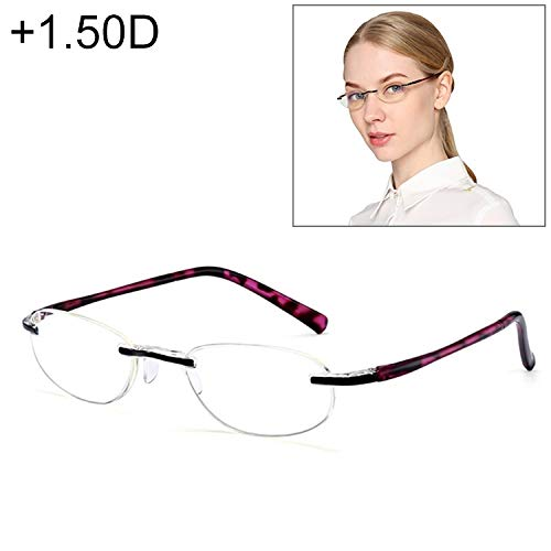WARM home Wunderschönen Anti Blue-ray Integrierte randlose Brille, 1.50D, Frauen Geschenk