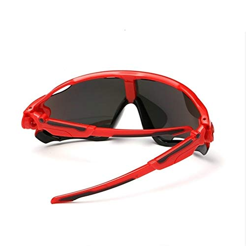Occhiali da Sci Sport Antivento Occhiali da Sci Occhiali da Ciclismo Occhiali da Moto da Esterno Occhiali da Snowboard Occhiali da Sci 6 Colori (Color : Red)