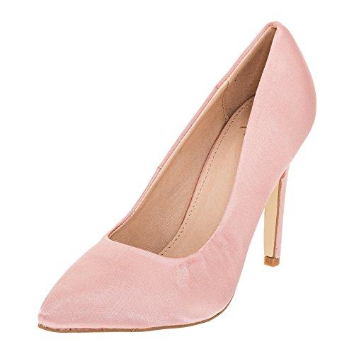 W.S Modische Damen High Heels Pumps Stilettos in Vielen Farben M362rs Rosa 40
