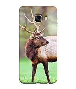 Fuson Designer Back Case Cover for Samsung Galaxy C5 SM-C5000 (Deer Reindeer Snow forest jungle)