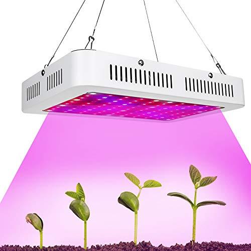 CWWHY 1000W LED Wachsen Licht, Vollspektrum Wachsen Lampe Pflanzen Lichter, Für Indoor Hydroponic Greenhouse Sukkulenten Gemüse Und Blumen Wachsen Lichter,Usplug - Licht 4 Fuß Wachsen