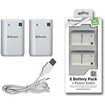 Xtreme 65382 batería recargable - Batería/Pila recargable (Control del juego, Color blanco, Ampolla, Joypad XBox 360)