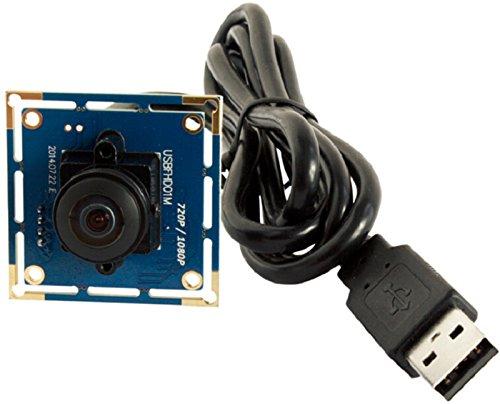 ELP 1080P Webcam Fisheye USB Kamera Modul Full HD High Frame Rate Web Kamera,Weitwinkel USB mit Kamera 640X480 @ 100fps UVC Kamera kompatibel für Android Windows Linux