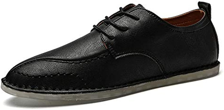 Xiaojuan-scarpe, Scarpe oxfords da uomo Scarpe stringate in tinta tinta tinta unita,Scarpe Uomo Pelle (Coloree   Nero, Dimensione...   Negozio famoso    Scolaro/Ragazze Scarpa  53076d