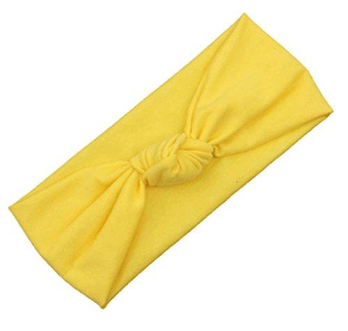 Sunnywill Baby Kleinkind niedlichen Kinder beugen Haarband Turban Knoten Rabbit Stirnband Kopfbedeckungen für Mädchen (Gelb)