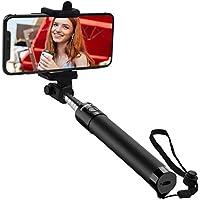 Mpow Selfie Stick, iSnap Selfie Stange mit Bluetooth Fernauslöser, Monopod Selfiestick mit Handgelenkband für iPhone Huawei Samsung