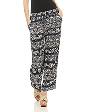malito Mujer Pantalones Patrón Diseño Oriental Harem Modelo S001
